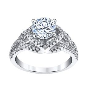 Jewelry - NWT  Silver Simulated Diamond Engagement Ring Sz 8